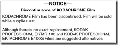 Kodachrome Announcement